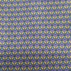 Jos A Bank Lavender Blue Fly Bee Silk Tie Foulard